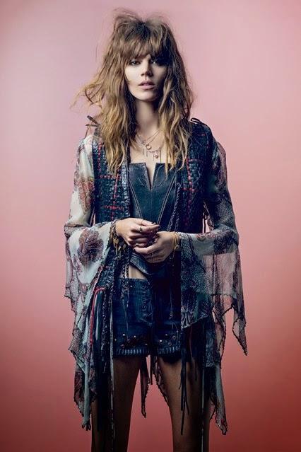 Kate Moss va dévoilé sa collection pout TopShop dans le Vogue UK du mois de Mai...