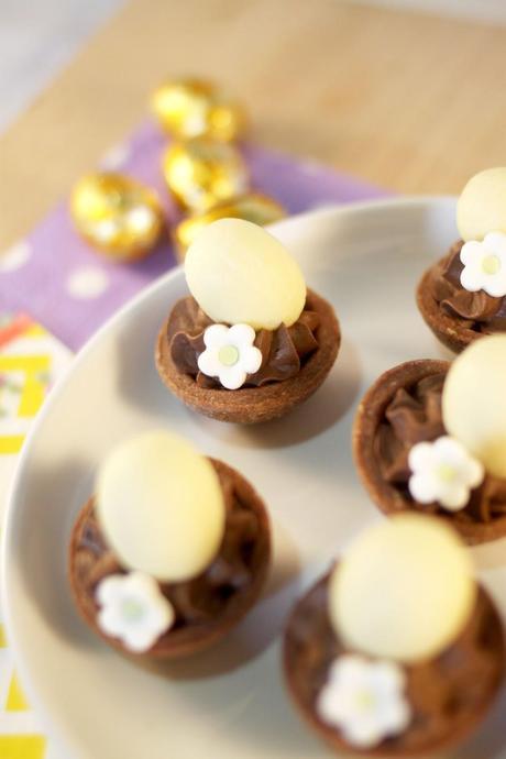 Petits nids de Pâques { Chocolat & crème de Salidou }