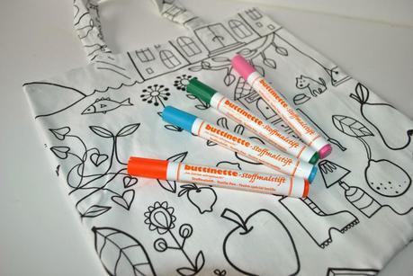 Tote bag à colorier