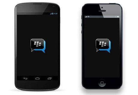 L'Apps de messagerie BBM sur iPhone ajoute des autocollants