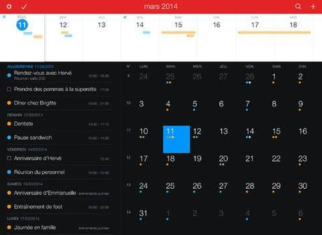 Fantastical 2, l'iPad à maintenant son calendrier