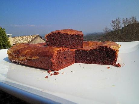 Brownies marbrés , bories plateau des Claparèdes Luberon
