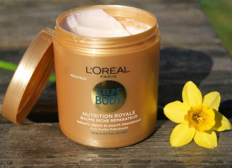Sublime Body, baume nutrition royale de L'Oréal