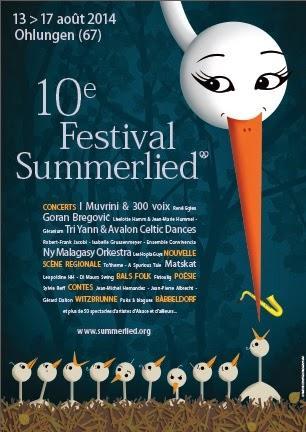 Du 13 au 17 août 2014, c'est la 10ème édition du Festival Summerlied !