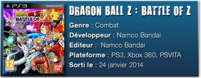 FICHE TECHdbz [TEST] Dragon Ball Z : Battle of Z