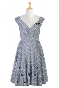 Blue gray dress