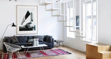 ARCHI : Un escalier flottant