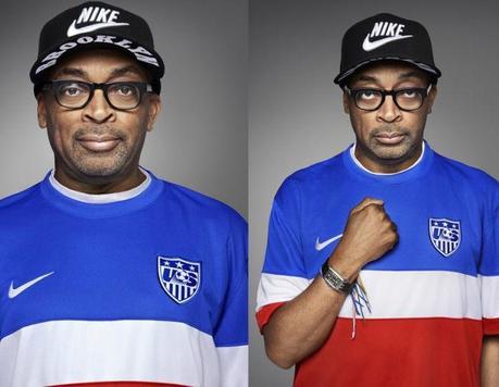 Diplo, Spike Lee et HAIM posent avec le maillot de l'équipe de football US