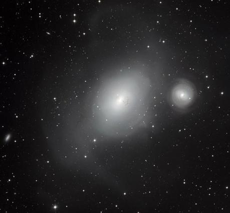 A 60 millions d'années-lumière de nous, les galaxies en interaction NGC 1316 et NGC 1317 - téléchargez l'image en très haute résolution (6,7 Mb)