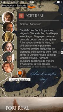 [Exclusif] - OCS annonce l'Apps compagnon TV Game of Thrones saison 4 sur iPhone