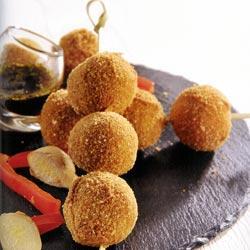 Billes de crevettes au gingembre et poivron