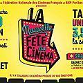 Fete du cinema ... sur l'écran noir de vos nuits blanches à 3.50 euros !