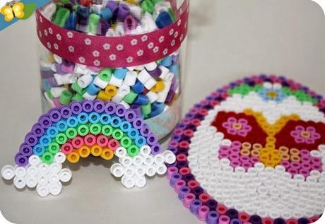 Réalisations en perles à repasser hama pour Pâques
