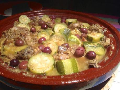 tajine aux olives cassées et courgettes