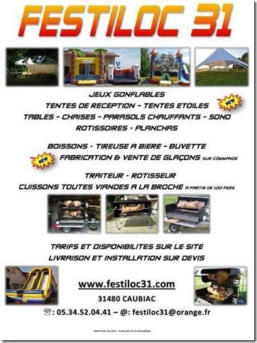 Festiloc 31 est une société de location de matériel festif