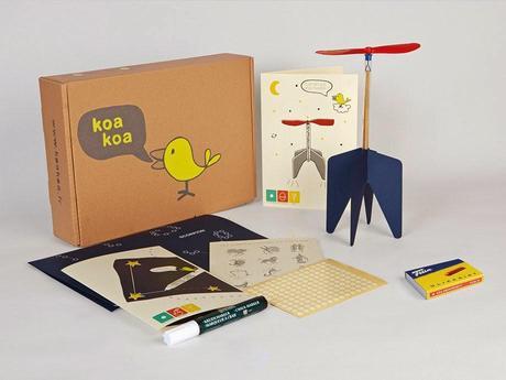Koa Koa, une box mélant créativité et pédagogie pour les enfants de 5 à 10 ans, conçue par des designers !