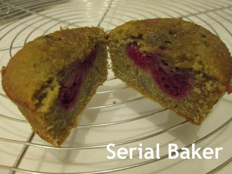 Muffins matcha-framboise sans gluten