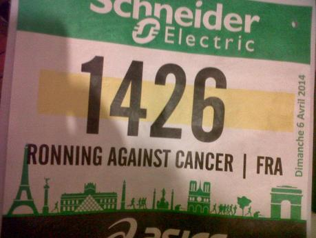 "Ronning Against Cancer (Breast Cancer)'s next race ""Marathon de Paris""  on Sunday , April 6th 2014 to support Institut Curie !!! Go go go to Schneider Electric Paris Marathon 2014…Great motivation and wellness with good feelings!!! (D day– 14h)..."