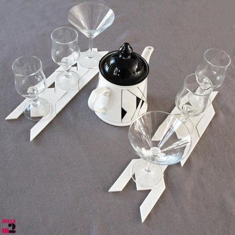 Belle décoration printanière de table