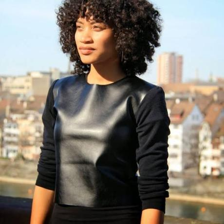 sweater faux cuir DIY : le sweat en faux cuir