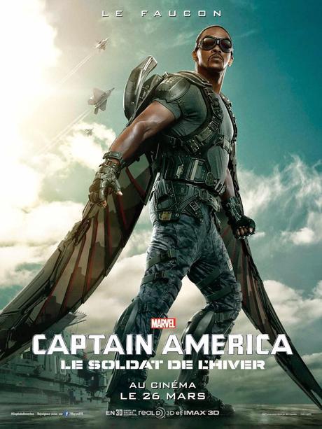 Affiche Captain America 2 - Falcon