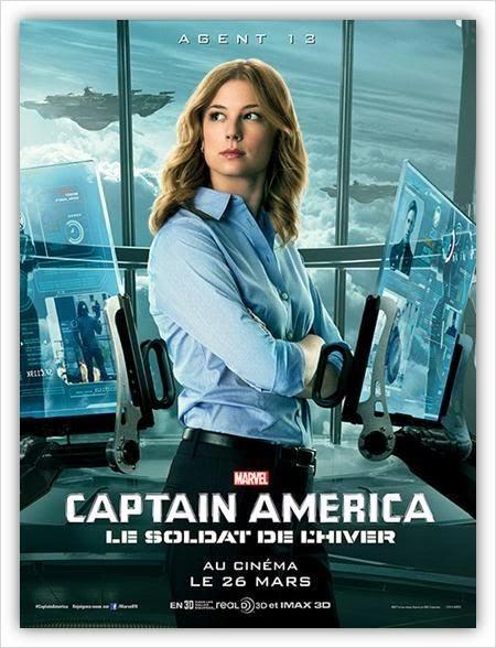 Affiche Captain America 2 - l'agent 13