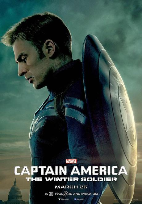 Affiche US Captain America 2 - Steeve Roger