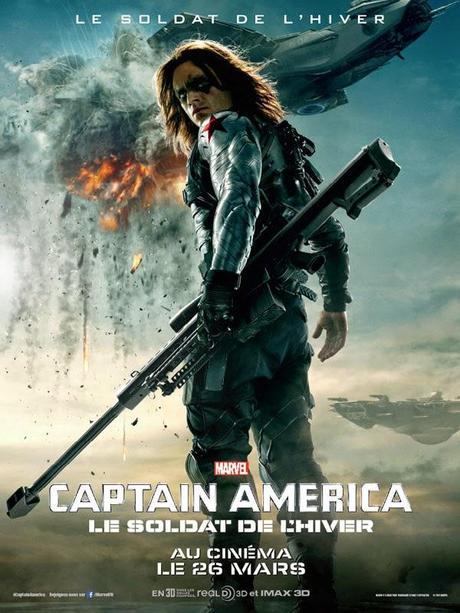 Affiche Captain America 2 - Le Soldat de l'Hiver