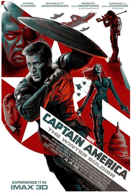 Affiche alternative US Captain America: The Winter Soldier