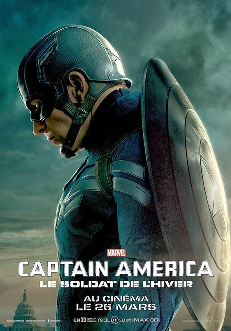Affiche FR Captain America 2 - Steeve Roger