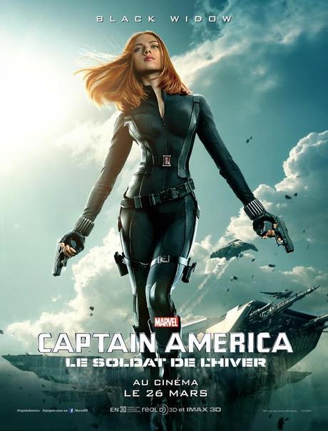 Affiche Captain America 2 - Black Widow