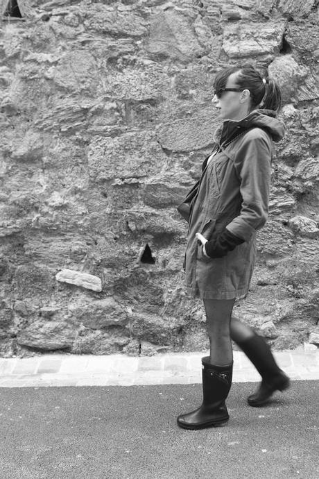 Blog mode Fashion Fashion Blog French Blog Fashion Blogger Ootd Outfit Lisa Marie Diary 2 Bottes de pluie et mini