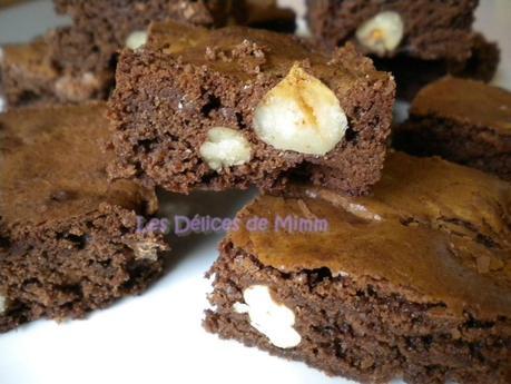 Brownies aux 2 chocolats et aux fruits secs 4