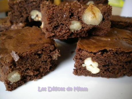 Brownies aux 2 chocolats et aux fruits secs 2