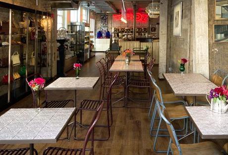 Café brocante à Londres