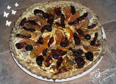 Tarte à la Ricotta & Pétales de Tomates Confites!