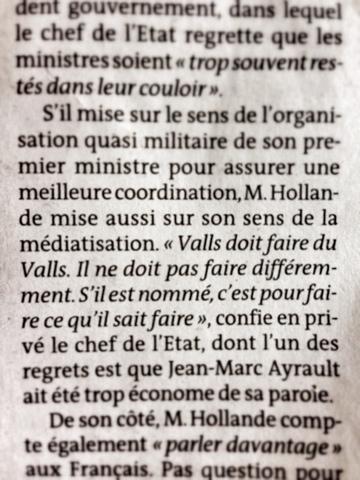 Pourquoi il faut s'opposer au gouvernement Valls