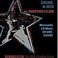Chuuut ce soir ... soirée era tempu food & mix #1 au rowing club !