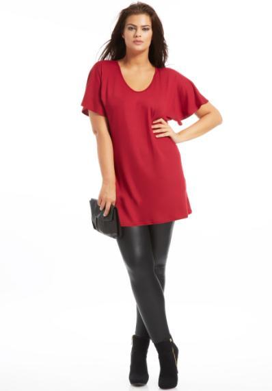Scarlett Tunique ample avec col v rouge foncé 29,99 €