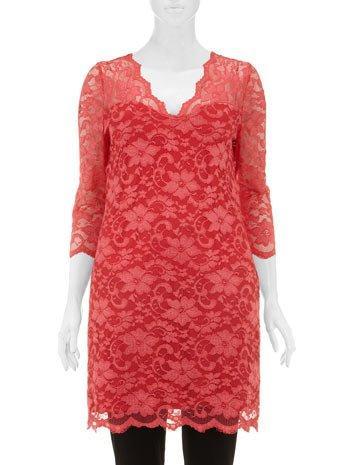 Evans Lovedrobe coral lace shift dress 59,50 €