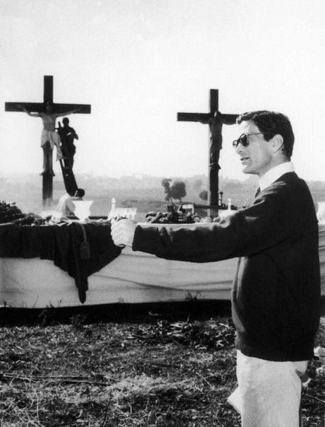 Pasolini sur le tournage de La Ricotta