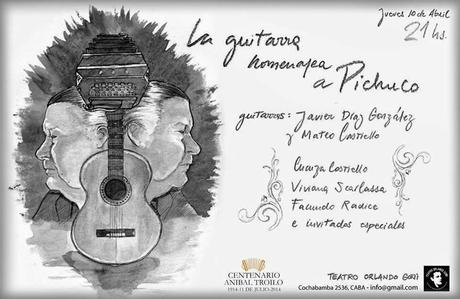 Hommage de la guitare à Pichucho [à l'affiche]