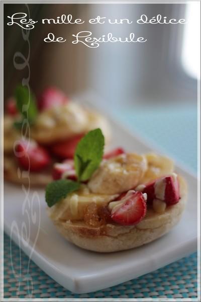 ~Pizza fraises, bananes et chocolat blanc~