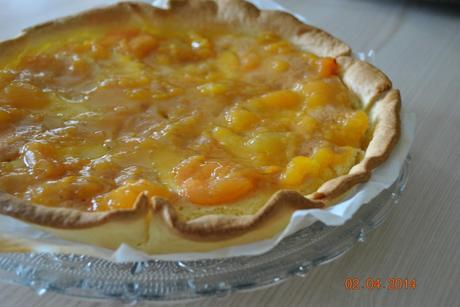 Tarte aux pommes couverte, abricots♥