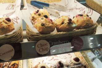 Muffins cranberry / chocolat sans gluten