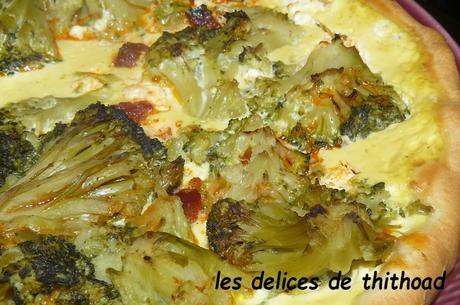 tarte feta, brocolis et chorizo