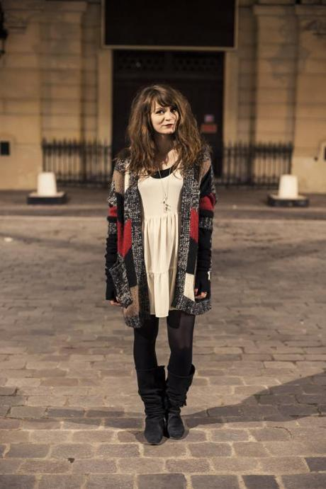 look gilet maille