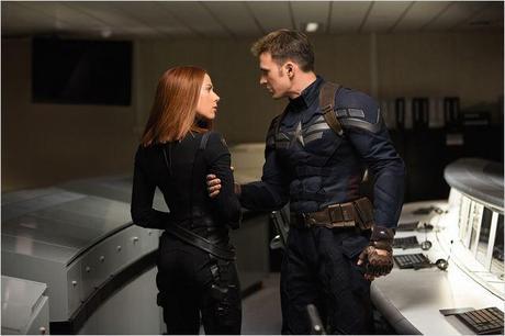 Captain America, le soldat de l'hiver : Photo Chris Evans, Scarlett Johansson