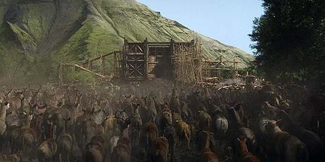 Les animaux rentrent dans l'arche de Noé de Paramount Pictures and Regency Enterprises Photo credit: ILM