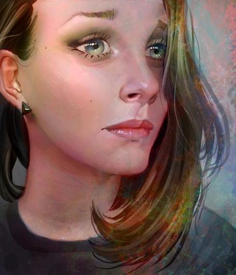 Digital paintings by Jenny Stout